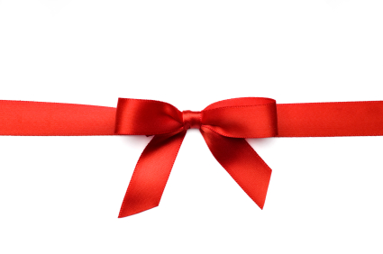 Red Satin Gift Bow